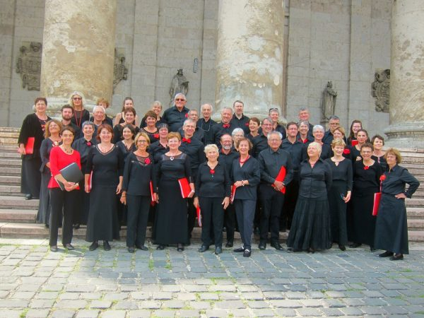 Devant la basilique d'Eszterhom (Hongrie), août 2017