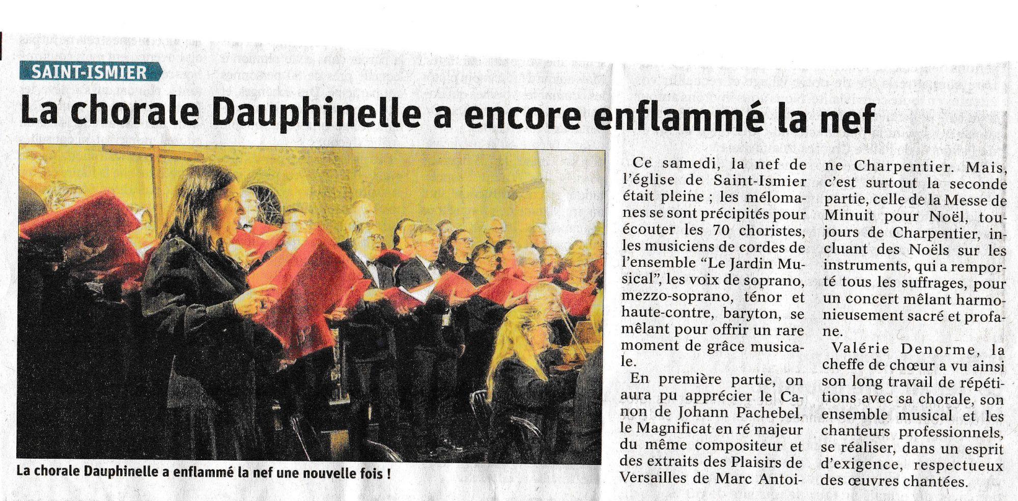 Dauphiné Libéré - Saint Ismier - 20200203